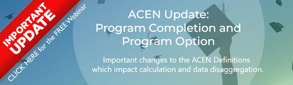 UPDATE - Program Completion